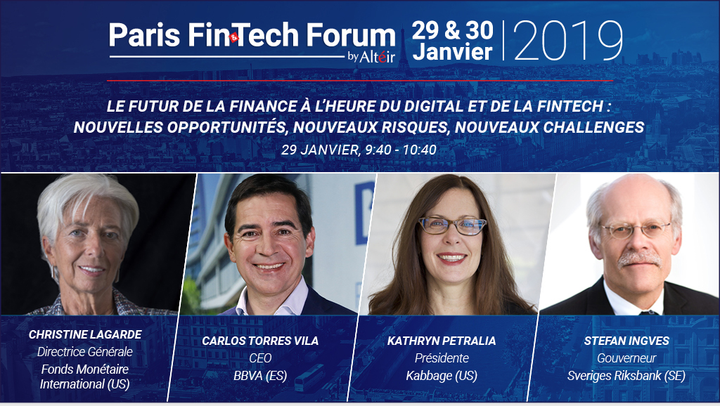 Paris Fintech Forum I 29 & 30 janv, 19