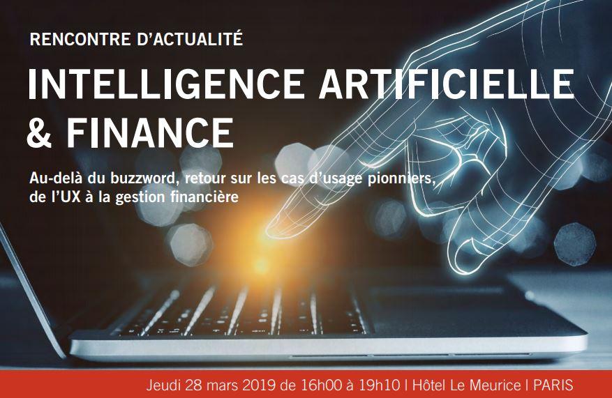 """Conférence """"IA & Finance"""" I 28 mars, 19"""