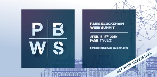 Paris Blockchain Week Summit I 16 & 17 avril, 19