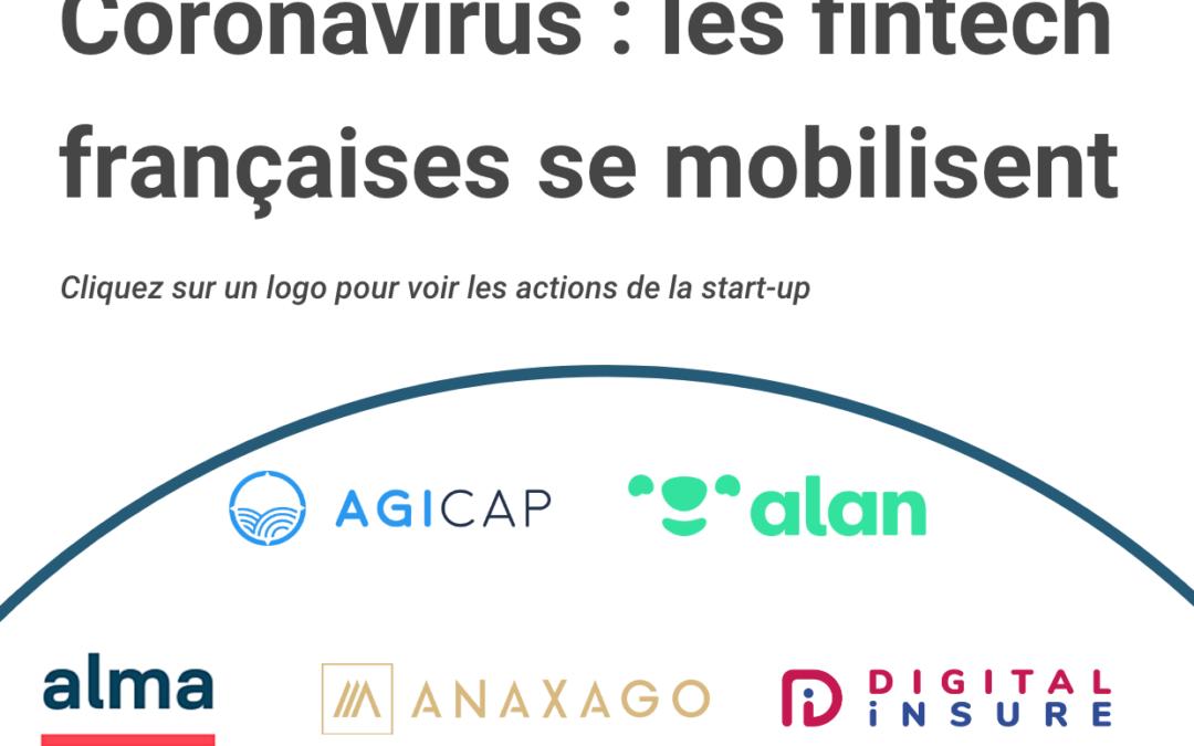 Infographie : les fintech françaises se mobilisent pendant la crise
