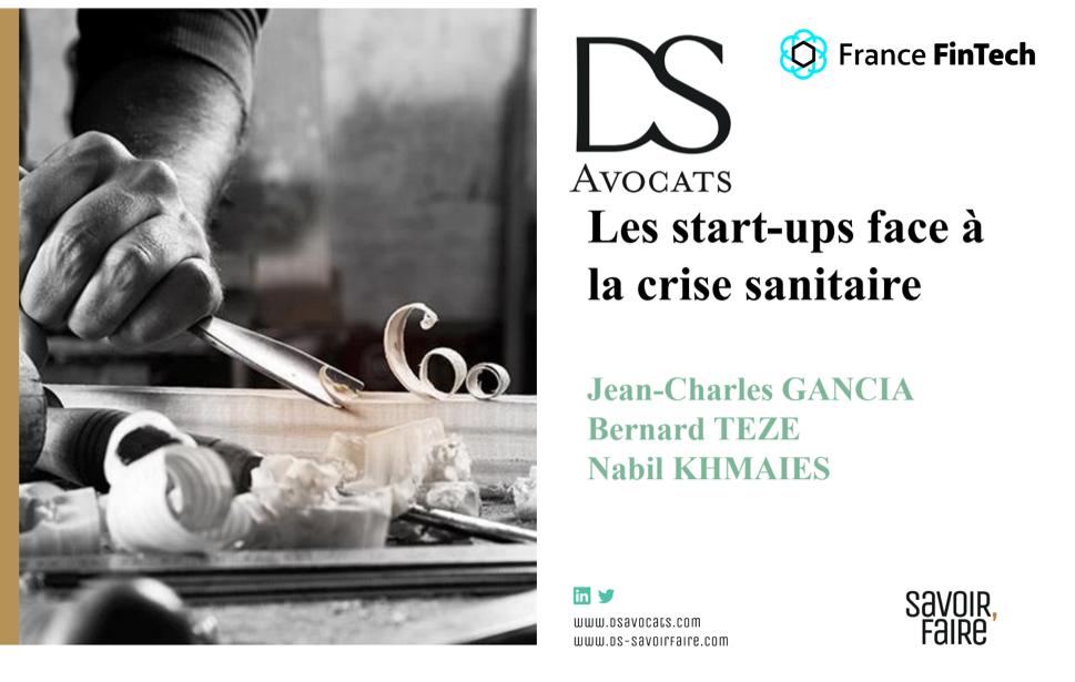 """""""Les start-up face à la crise sanitaire"""" 21 avr, 20 – 11h"""