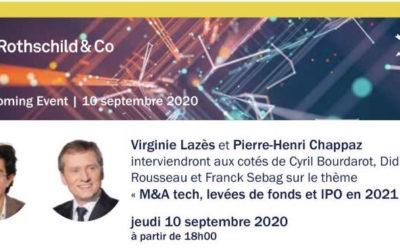 Visioconférence Rothschild & Co : M&A tech, levées de fonds et IPO en 2021