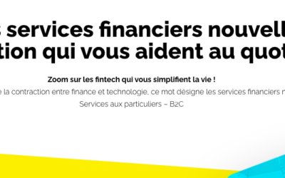 Infographie France FinTech – Services financiers B2C