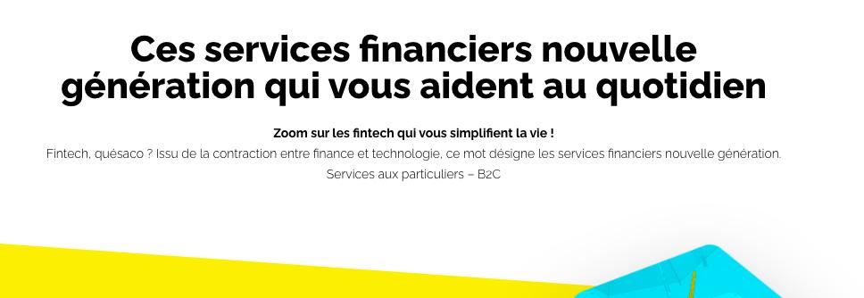 Infographie France FinTech – Services financiers B2C