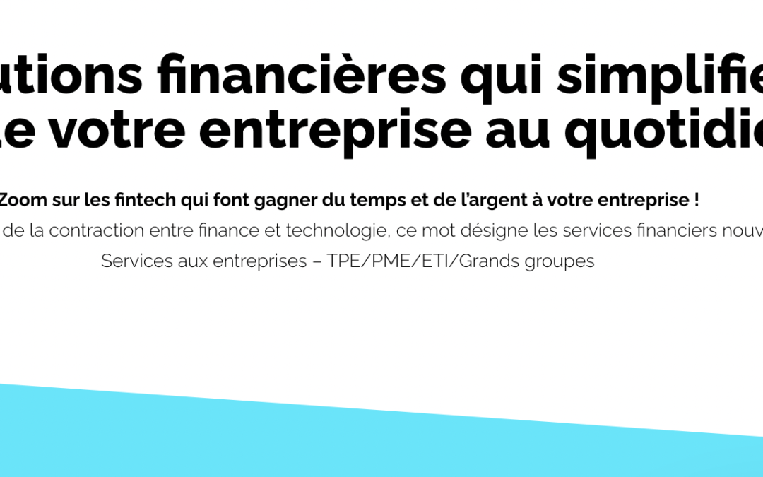 Infographie France FinTech – Services financiers B2B