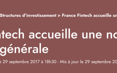 France Fintech welcomes a new general delegate