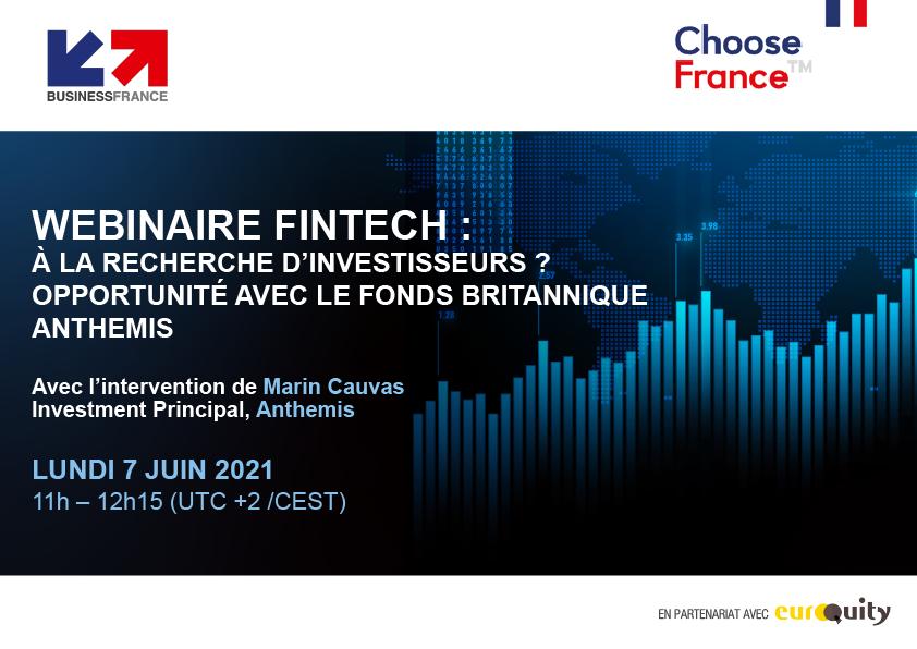 Webinar Business France : A la recherche d'investisseurs ? • Opportunité avec le fonds britannique Anthemis
