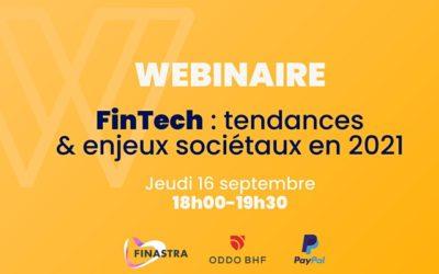 WEBINAIRE – FinTech : Tendances et enjeux sociétaux en 2021
